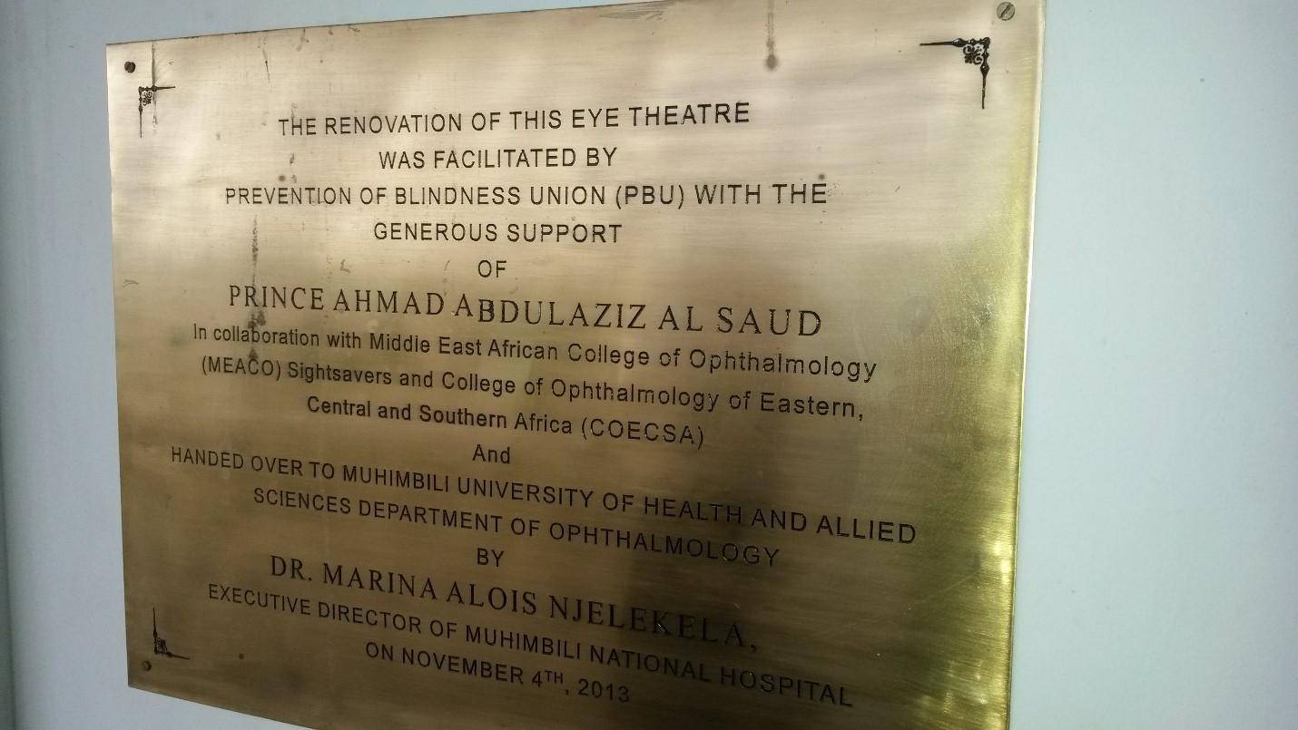 Eye operating theater commissioned in Dar es Salam